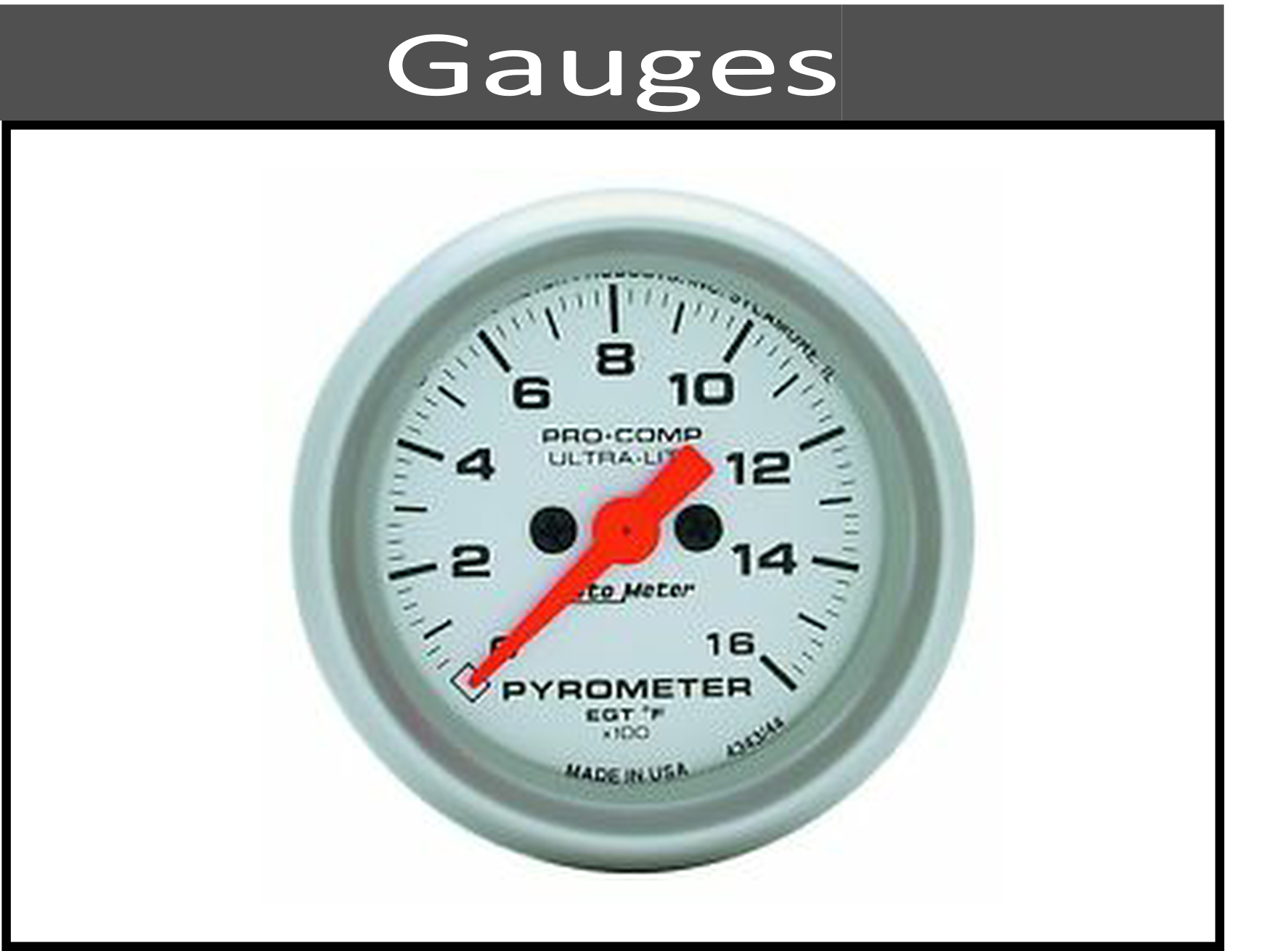 Pyrometers, Boost, and Temp Gauges