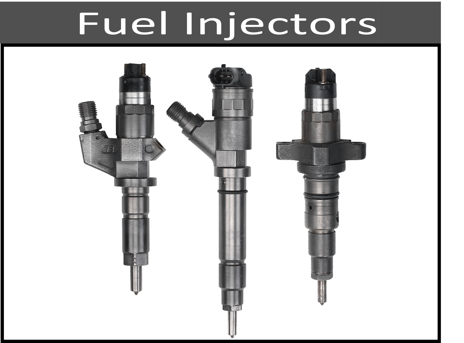 Stock and Upgraded Fuel Injectors