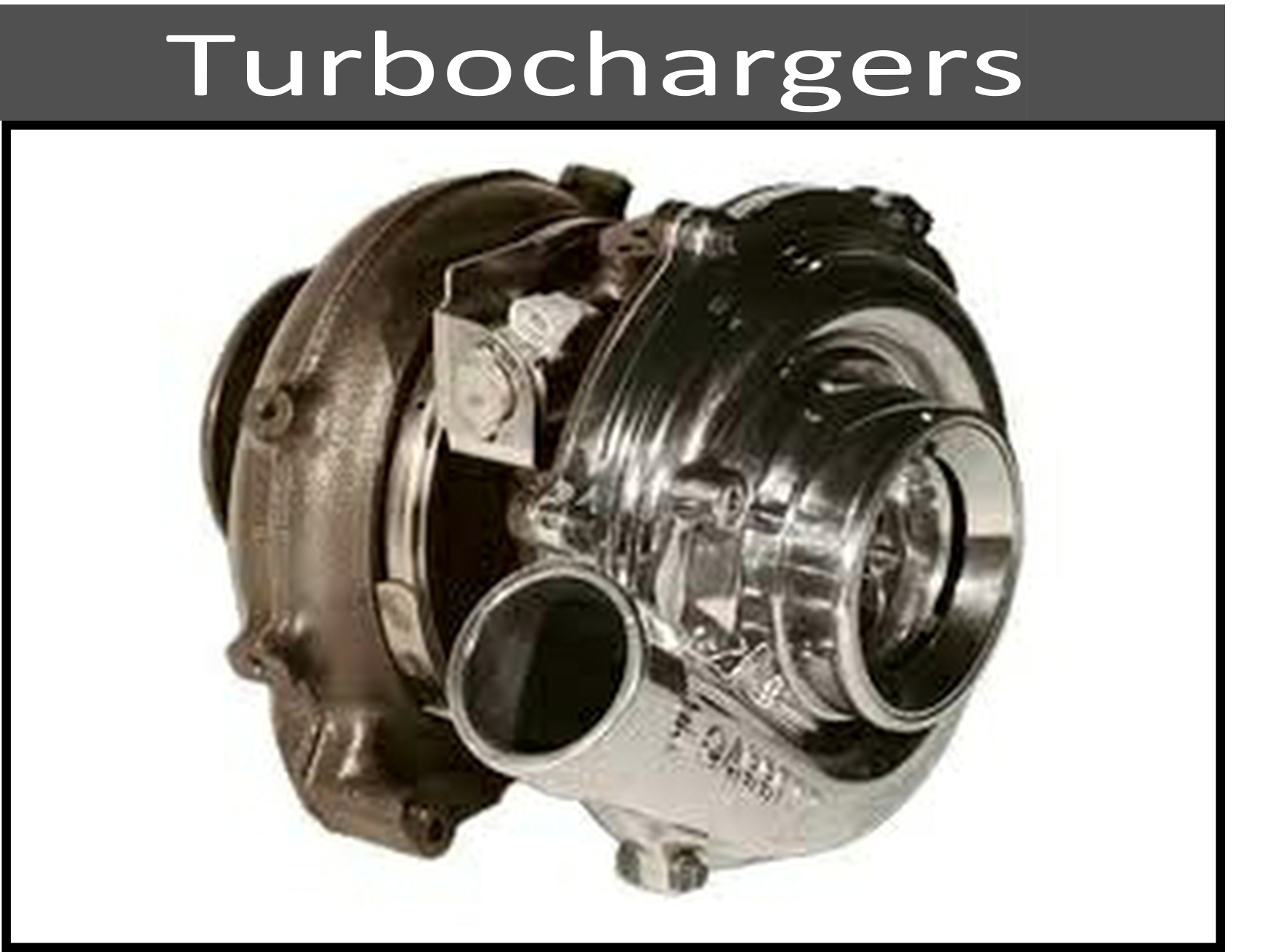 Stock and Upgraded Turbochargers